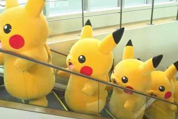 Pikachus invade Yokohama
