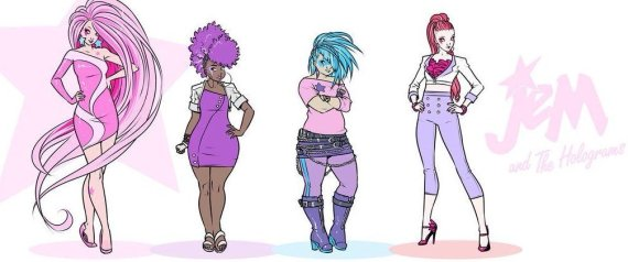 Redesigns of Jem and the Holograms