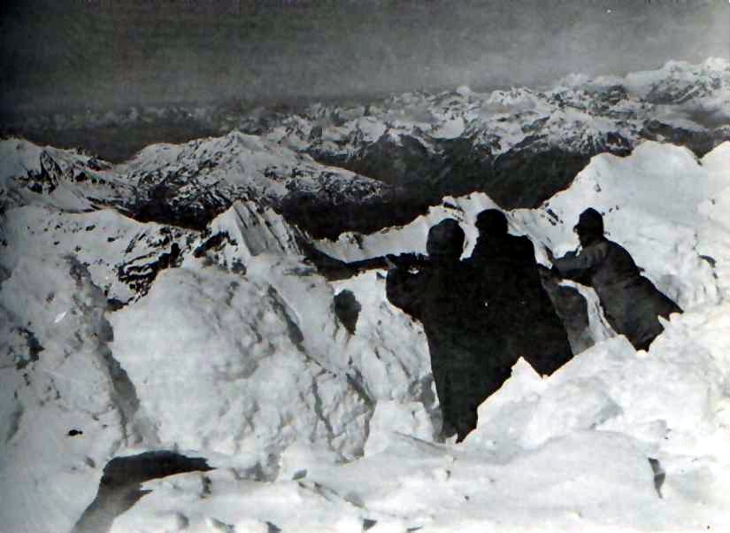 Austro-Hungarian Army trench in the Ortler Alps, 1917