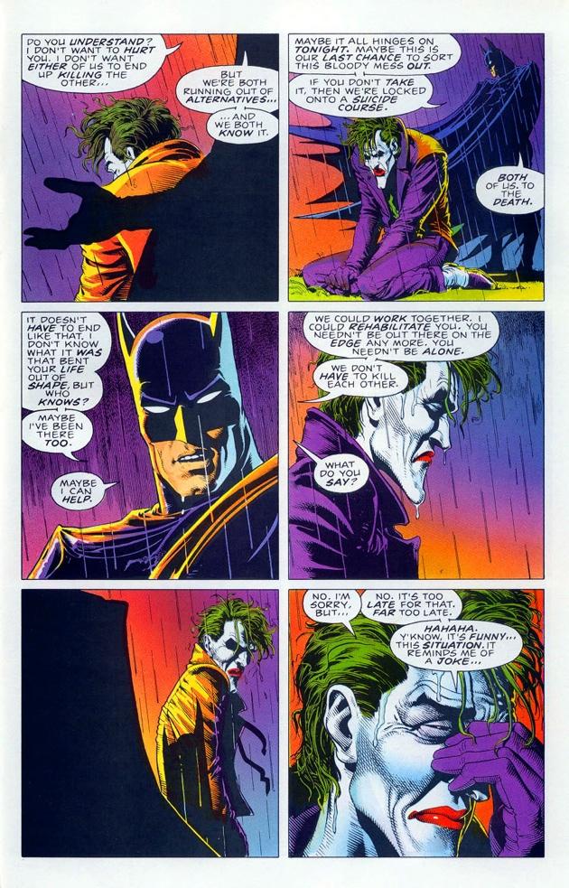 A resigned Joker in BATMAN: THE KILLING JOKE