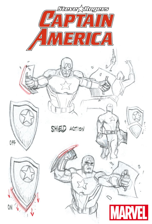 CAPTAIN AMERICA: STEVE ROGERS sketch