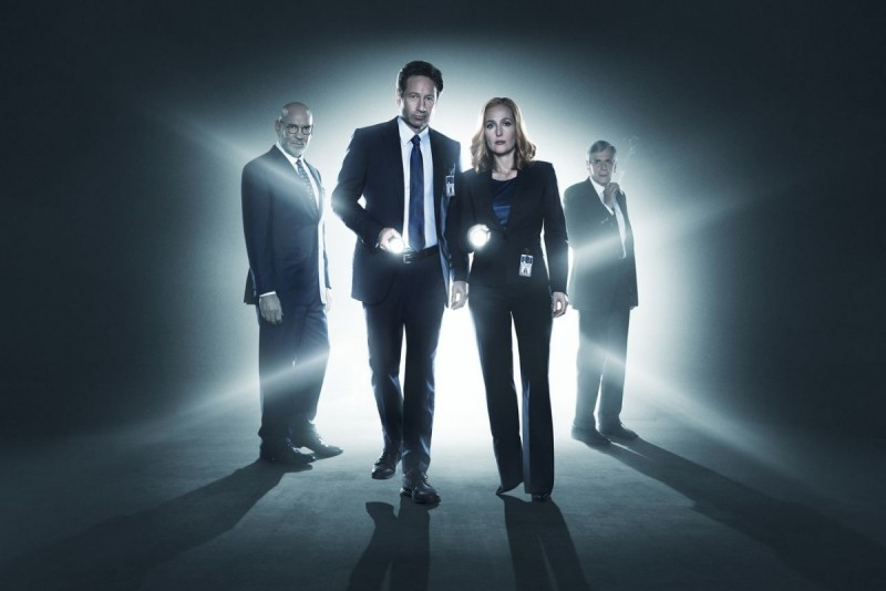 Skinner, Mulder, Scully, and the Cigarette Smoking Man
