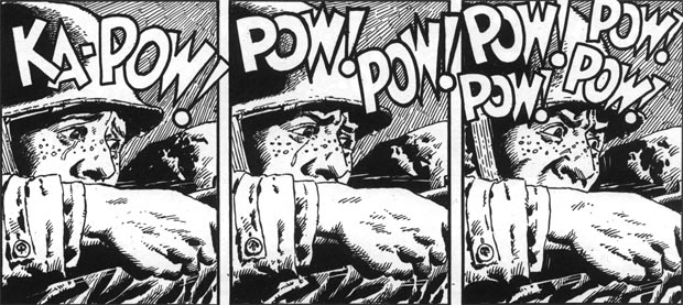 "Panels from ""Holding Action"" in Blazing Combat #2. Art by John Severin."