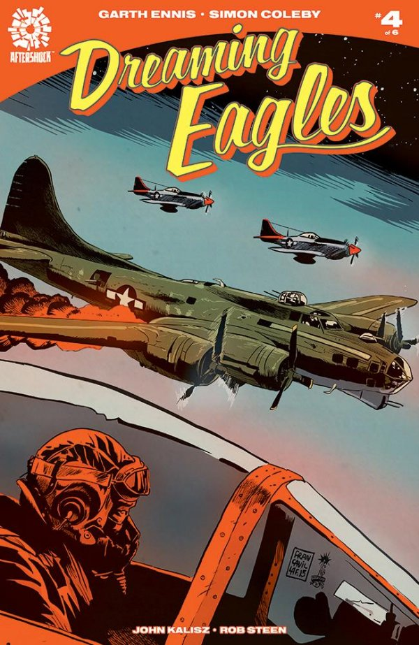 Cover of Dreaming Eagles #4, art by Francesco Francavilla.