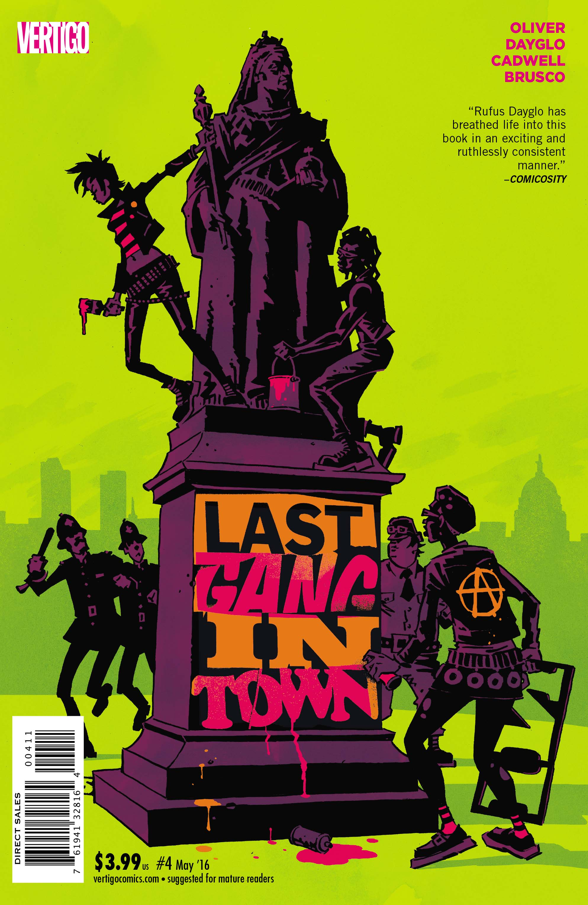 LAST GANG IN TOWN #4 cover