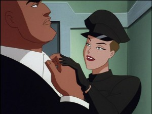 Mercy Graves with Lex Luthor in SUPERMAN: THE ANIMATED SERIES