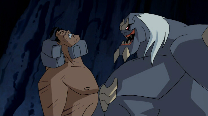 Superman and Doomsday in the JUSTICE LEAGUE cartoon