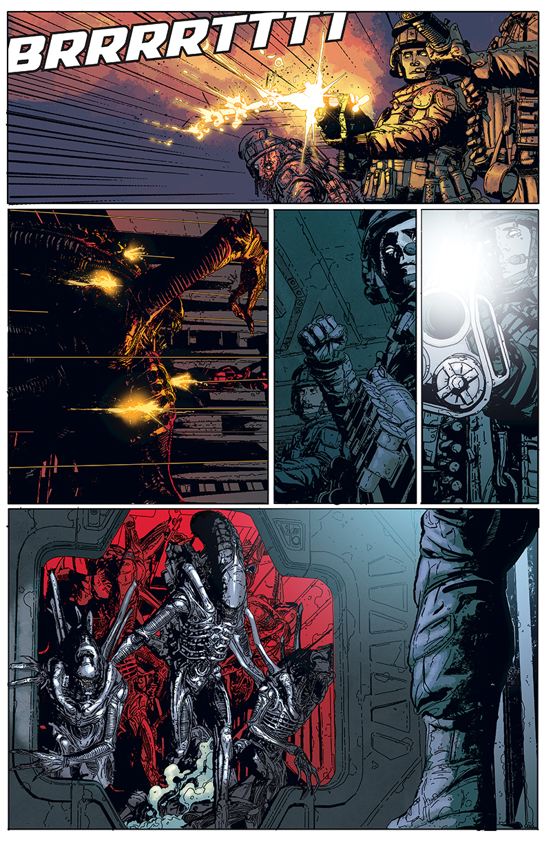 From ALIENS: DEFIANCE #1