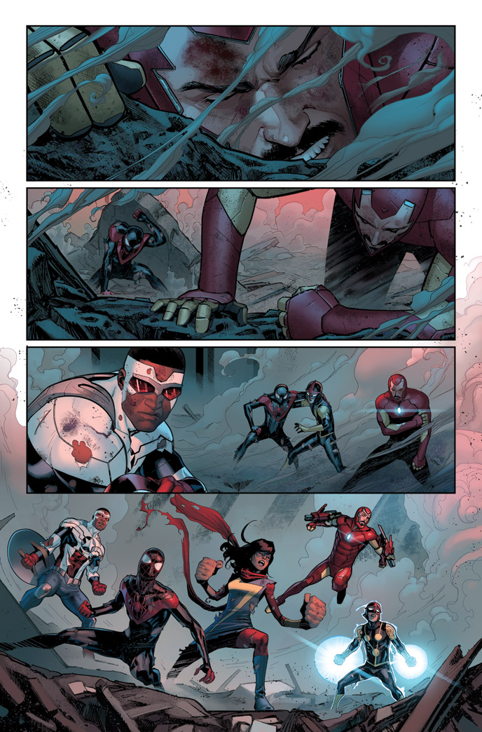 CIVIL WAR II #1 page 1