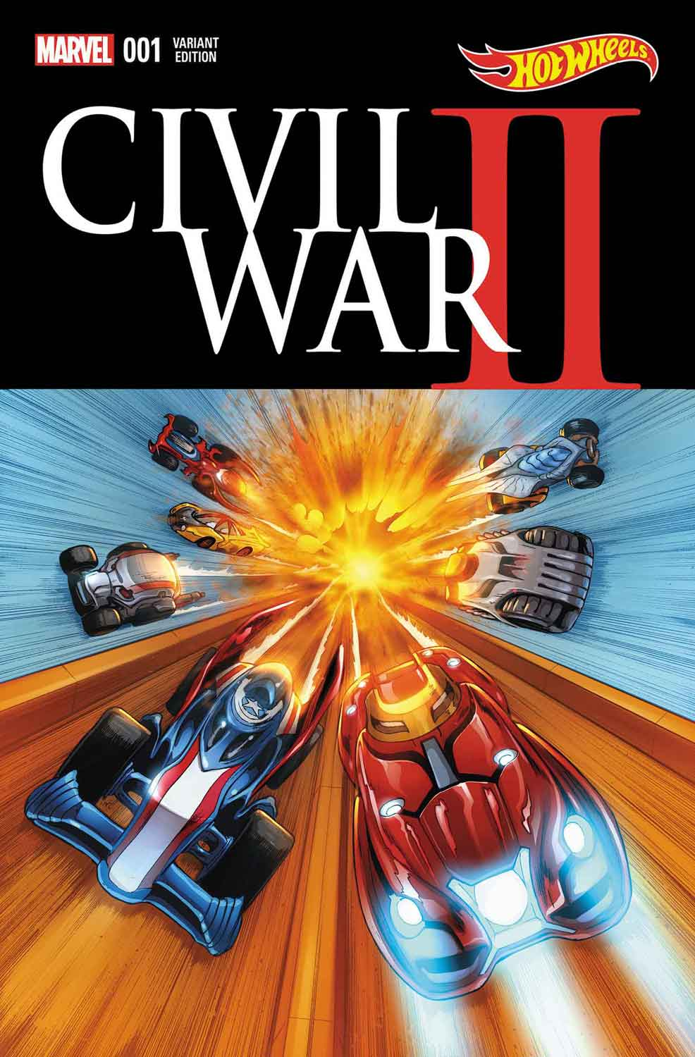 CIVIL WAR II #1 Hot Wheels variant cover
