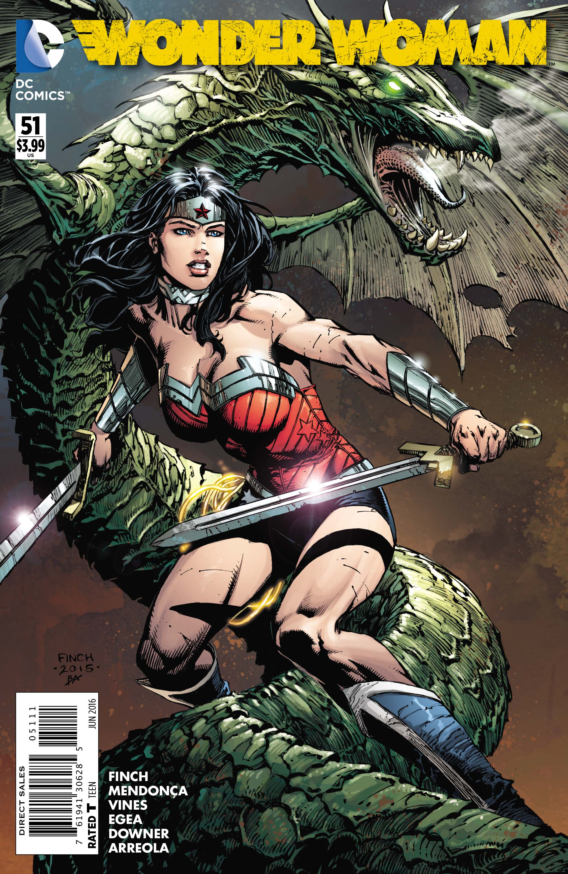 WONDER WOMAN #51 cover