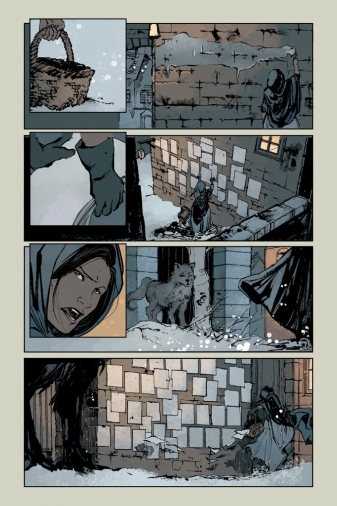 """Page from Rebels """"Daughter of Liberty."""" Art by Ariela Kristantina, colors by Jordie Bellaire."""