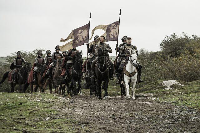 Bronn and Jaime and horsies