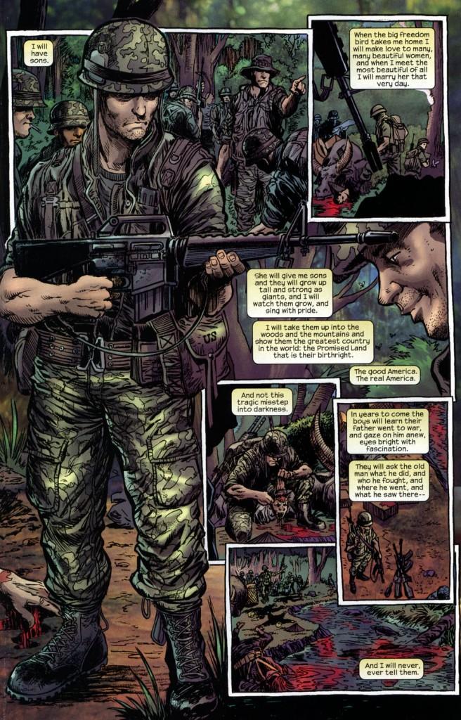 The Punisher: Born, p. 7. Garth Ennis script; Darick Robertson & Tom Palmer, pencils & inks; Paul Mounts, colors.