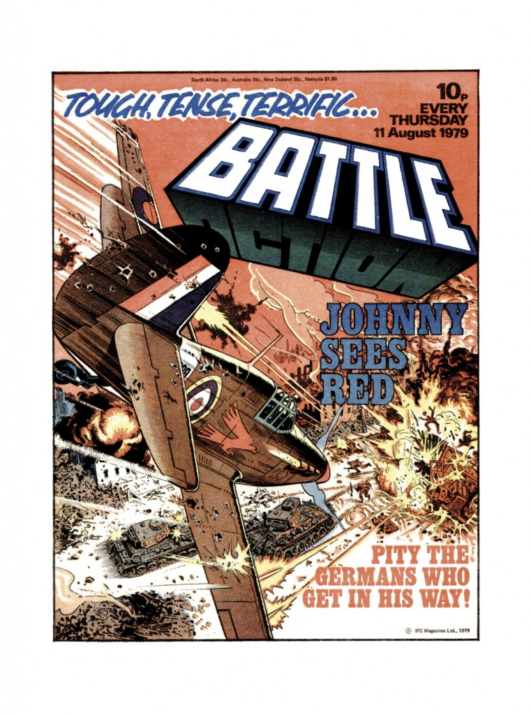 Cover of the 11 August 1979 issue of Battle, art by John Cooper.