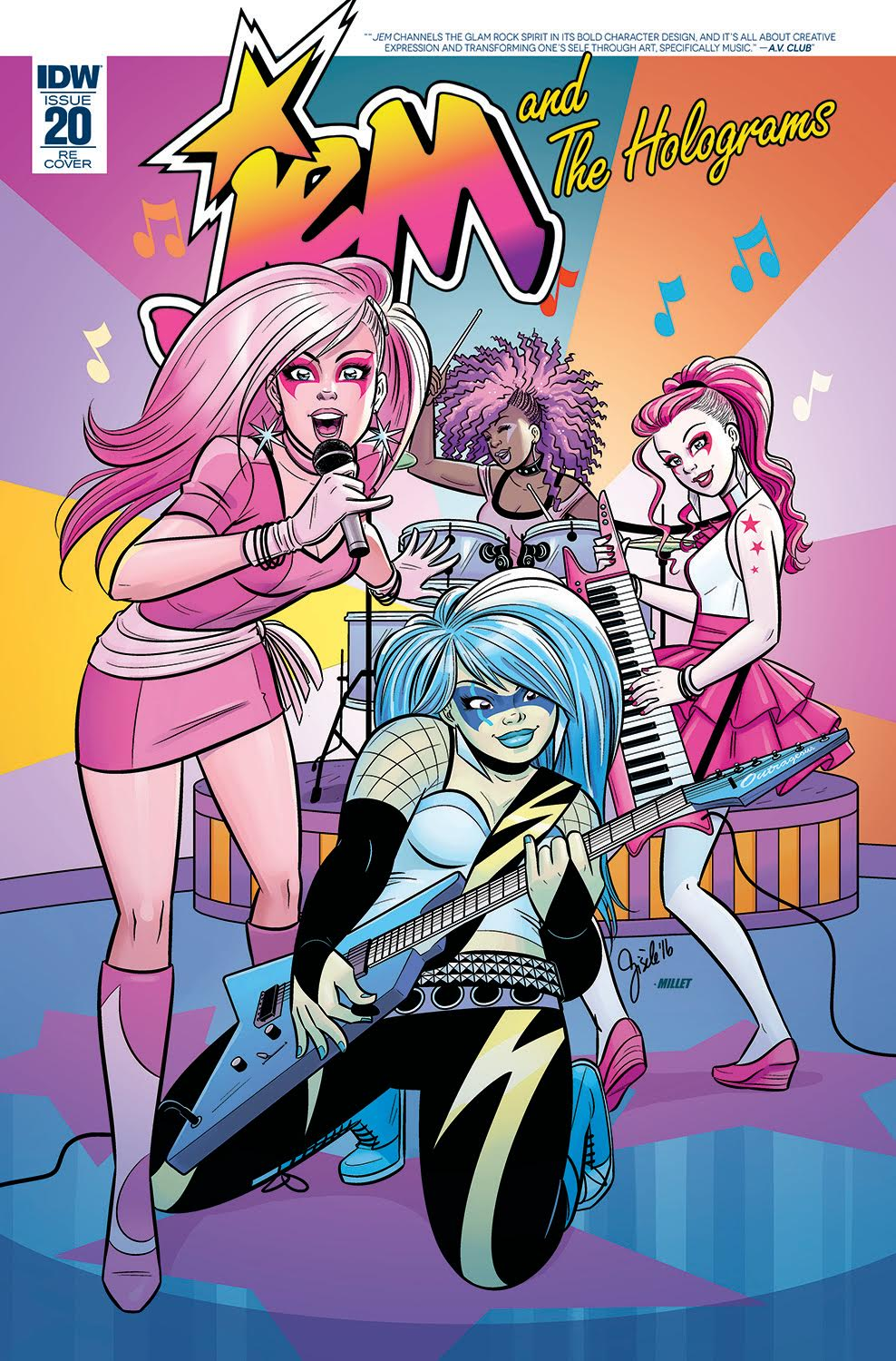 JEM AND THE HOLOGRAMS #20 variant cover by Gisele Lagace