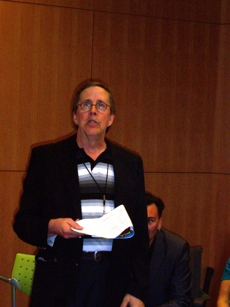 Dr. David Lavery, chairing a panel at SCW5 in Vancouver, BC, 2014.