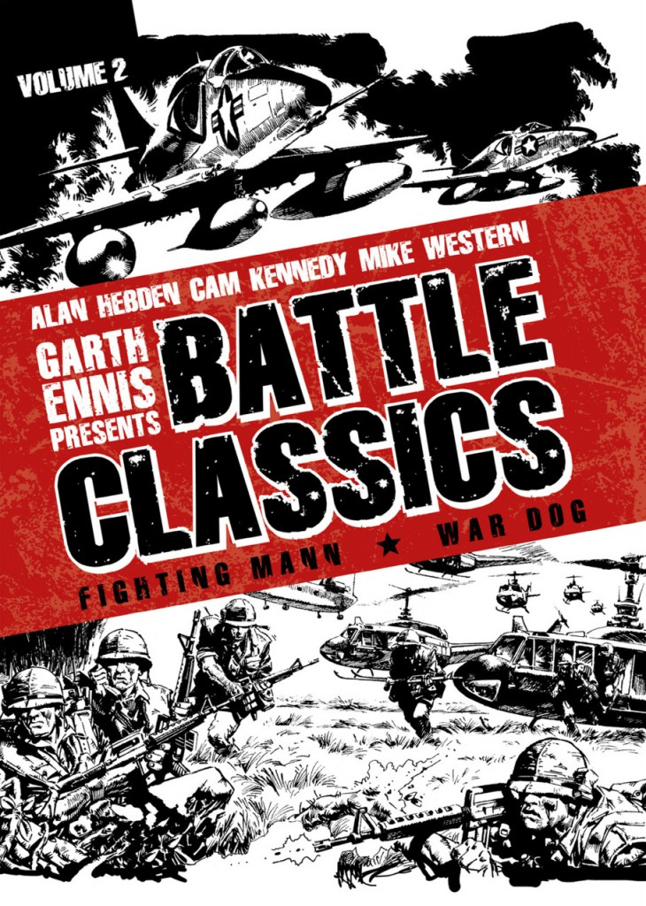 Cover of Titan Comics Battle Classics, Volume 2. Art by Cam Kennedy.