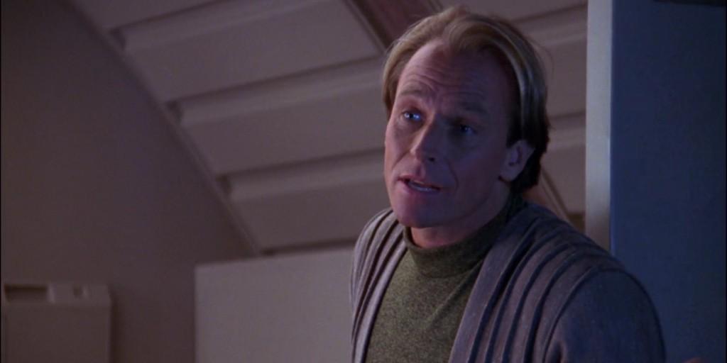 Corbin Bernsen as a member of the Q Continuum on STAR TREK: THE NEXT GENERATION