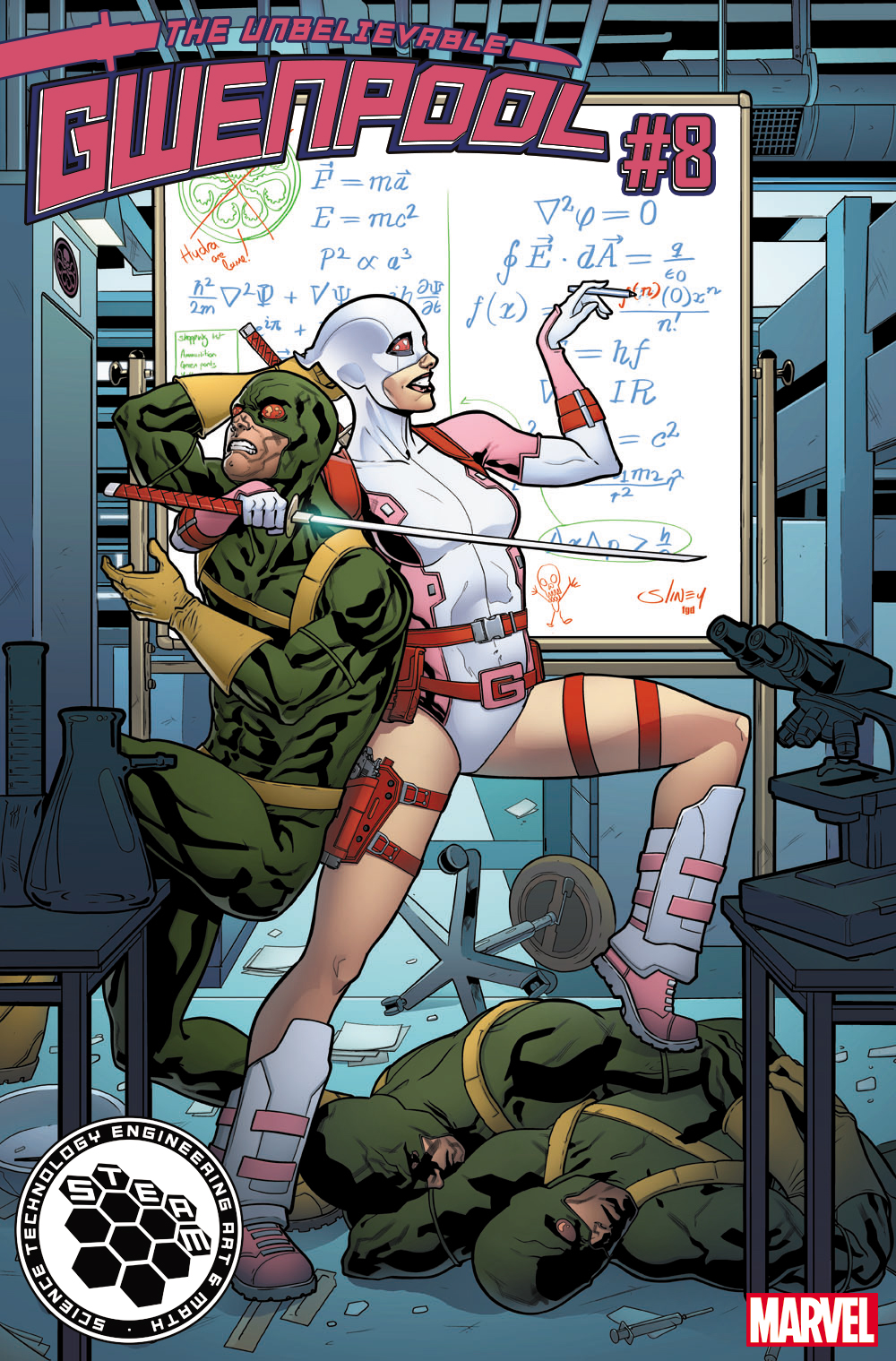 M (math) – GWENPOOL #8 by Will Sliney