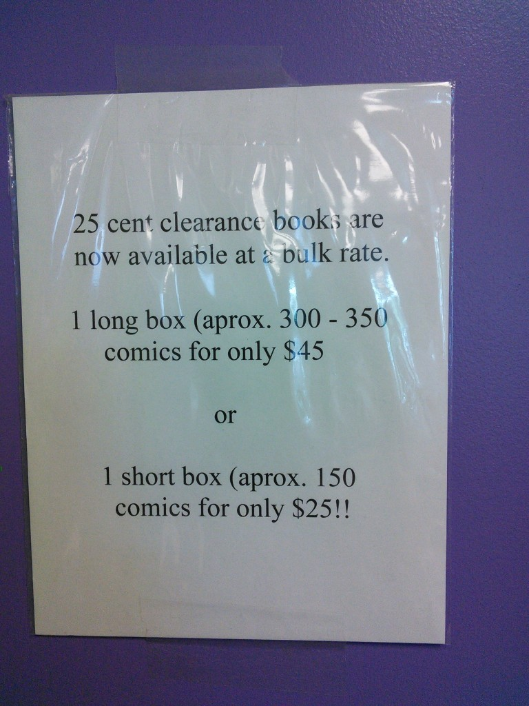 seriously, there was no way we were leaving without a box o' comics.