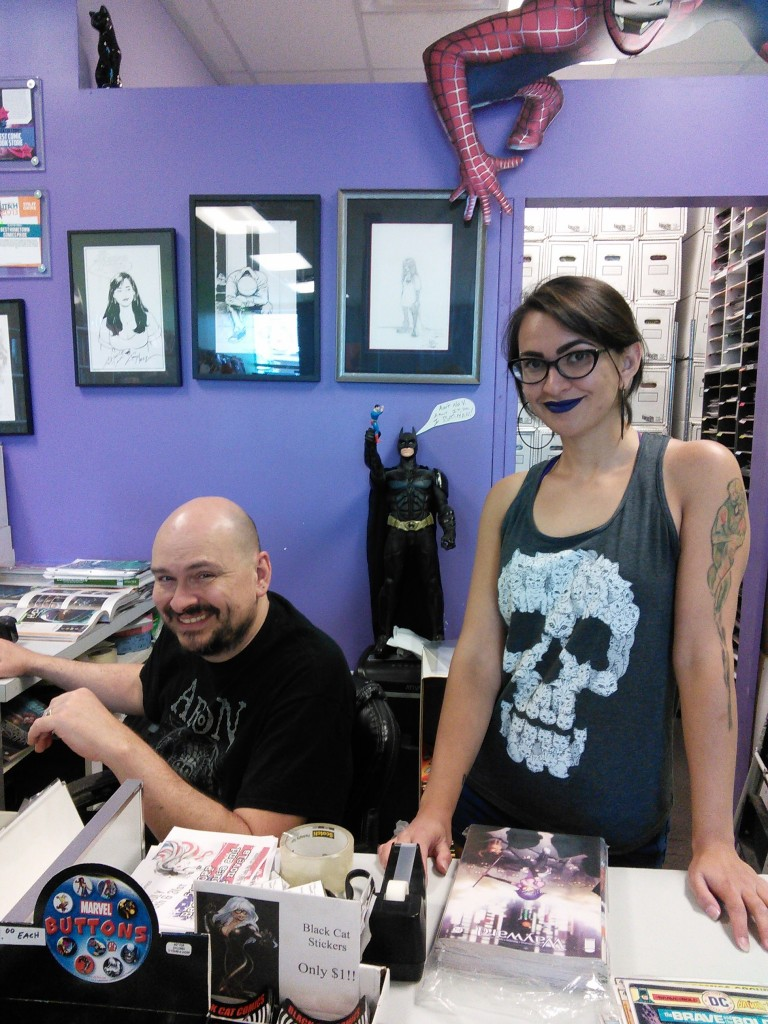 Black Cat's owner, Greg Gage, and resident Valkyrie, Taylor Hoffman.