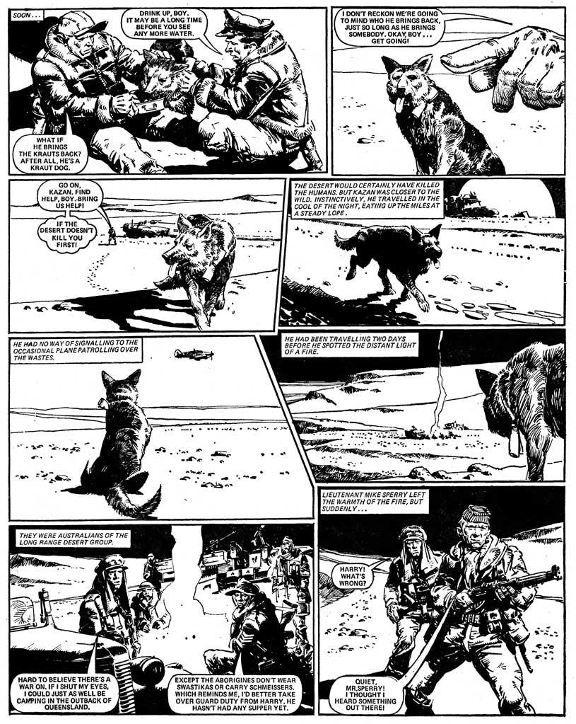 Battle Classics p. 220. Script by Alan Hebden, art by Cam Kennedy.