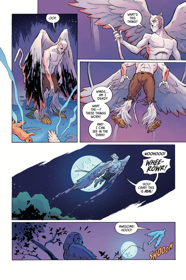ANGEL CATBIRD Volume 1 page 10 (Johnnie Christmas: illustrations; Tamra Bonvillain: colors)