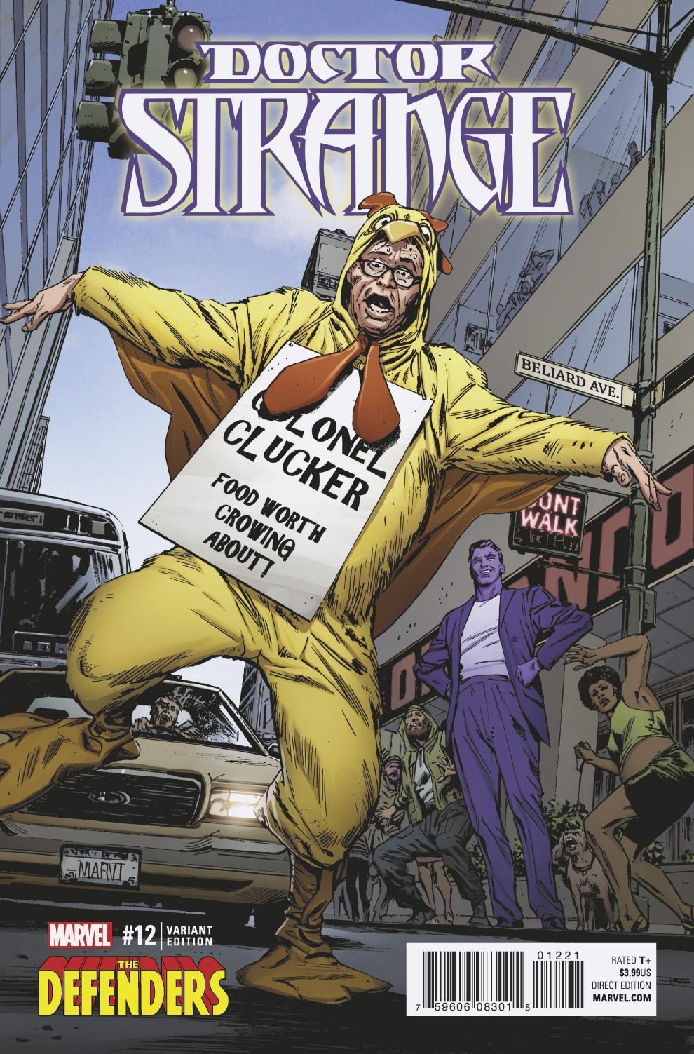 DOCTOR STRANGE #12 DEFENDERS variant cover