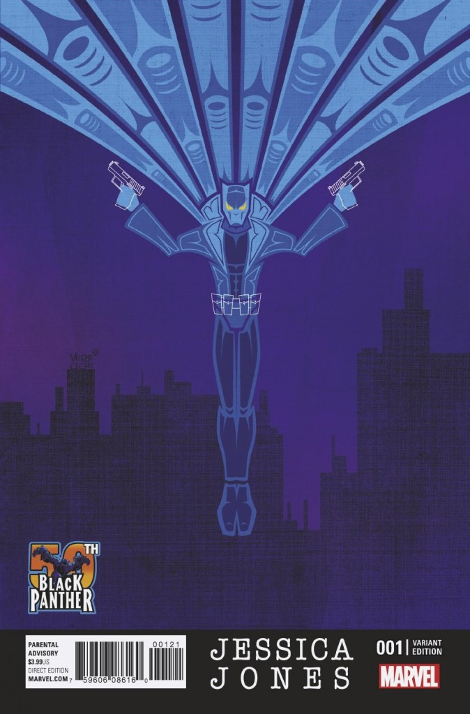 JESSICA JONES #1 Black Panther variant cover