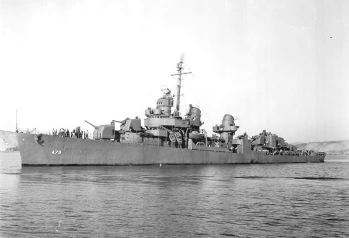 DD479, USS Stevens off of Mare Island in December of 1943. Sam Glanzman would have been serving aboard when this photo was taken.