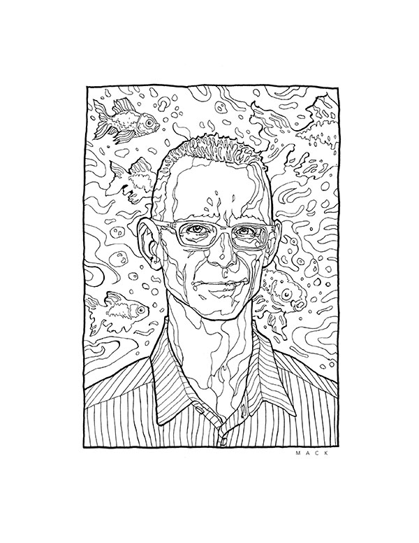 Portrait of Chuck Palahniuk by David Mack