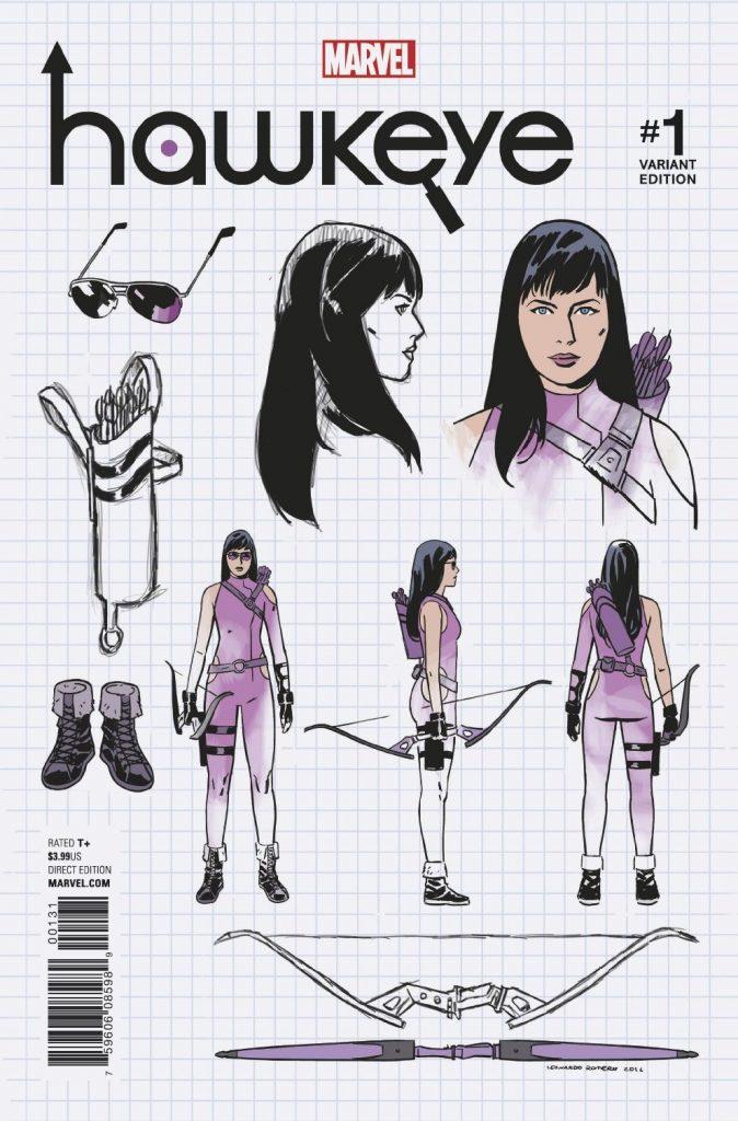 HAWKEYE #1 Romero design variant cover