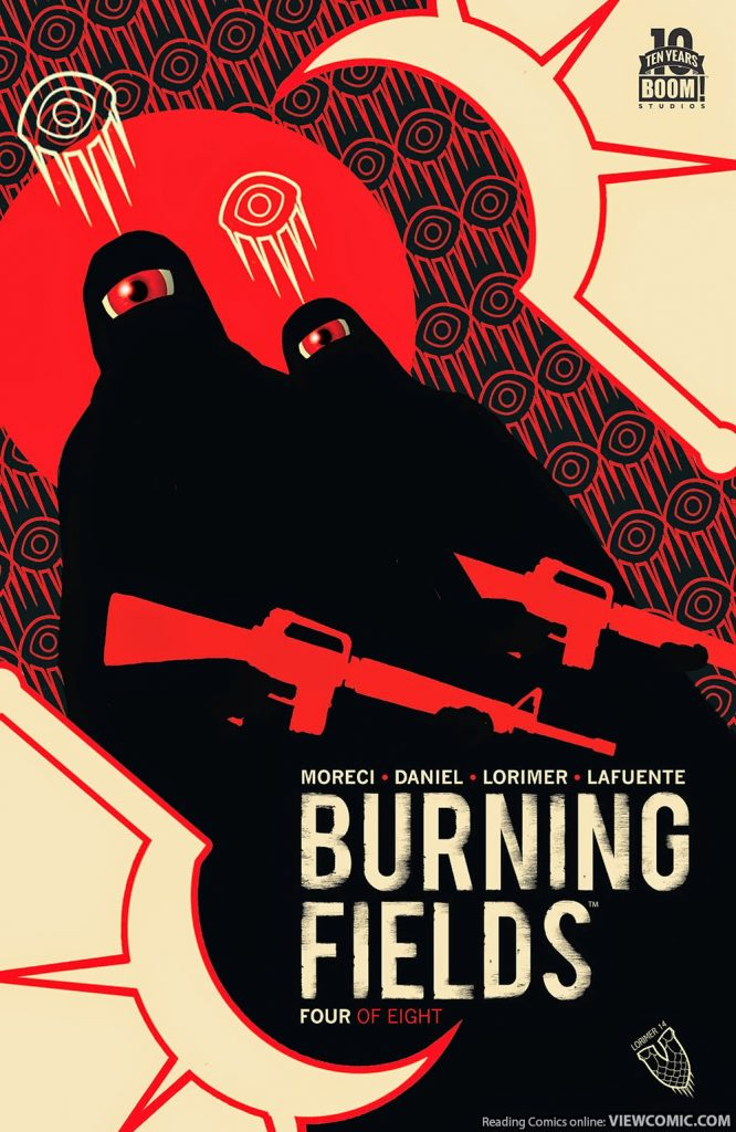 Cover for Burning Fields #4.