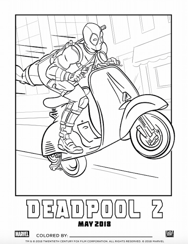 Strut Your Artistic Stuff with DEADPOOL 11 Coloring Pages - Freaksugar